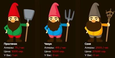 Онлайн игра 7-Gnomes без кэш поинтов